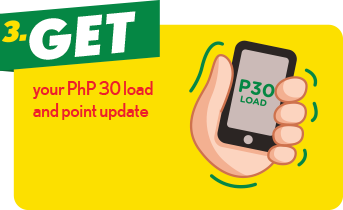 3. Get your PhP 30 load and point update.