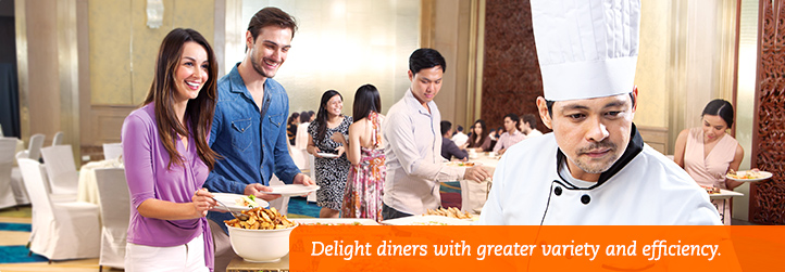 Smarter Hotel Buffets. Delight diners with greater variety and efficiency.