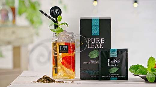 Pure Leaf™ Iced tea – How to serve a perfect Peppermint & Ginger Beer Iced Tea